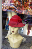Hat on mannequin — Stock Photo