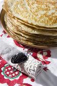 Panquecas e caviar — Foto Stock