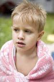 Little cute boy five years old — Stock Photo