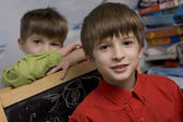 Happy twins brothers — Stock Photo