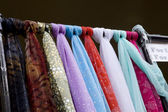 Colourful scarfes — Stock Photo