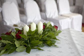 Bouquet of white roses for special occasion — Stock Photo