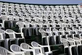 Cadeiras de plástico — Fotografia Stock