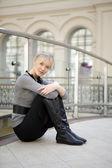 Mladá blondýna — Stock fotografie