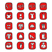 Hand drawn vector illustration icons for website — Stock Vector