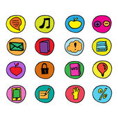 Hand drawn vector illustration icons — Stock Vector