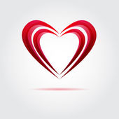 Abstract red vector heart — Stock Vector
