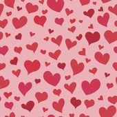 Love red heart seamless background bright pattern — ストックベクタ