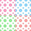 Colorful vector seamless pattern with flowers (tiling). Flower s — Stock Vector #48140619