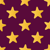 Cute vector seamless pattern (tiling) made of stars. Endless tex — Stock Vector