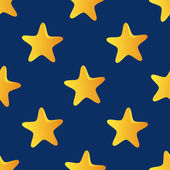 Cute vector seamless pattern (tiling) made of stars. Star shapes — Stock Vector