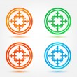 Abstract vector icons set made of circles and crosses — Stock Vector #49640939