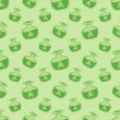 Постер, плакат: Green vector magic potions with deadly poison seamless pattern