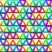 Seamless geometric pattern with triangles in rainbow colors - ve — Stock Vector