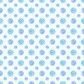 Blue soft vector polka dot seamless pattern — Stock Vector
