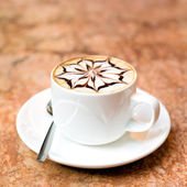 Cappuccino cup — Stock Photo