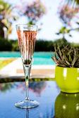 Glas champagne — Stockfoto