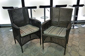 Wicker chairs for cafes, bars, restaurants — Stock Photo