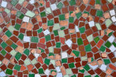 Substrate from the broken pieces of colored tiles — Stock Photo