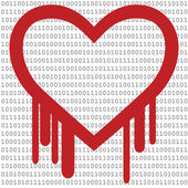 Heartbleed with Binary Code — Stock Vector