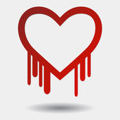 Heartbleed with Shadow — Stock Vector
