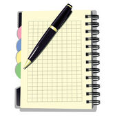 Appointment Book with Pen — Stock Vector