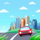Red Car — Cтоковый вектор