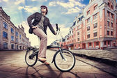 City cyclist — Stock Photo