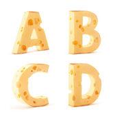Cheese alphabet — Stock Photo