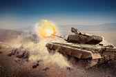 Ağır zırh, savaş alanında — Stok fotoğraf