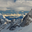 Dramatic Panorama of Snow Capped Mountain Peaks in the German Alps — Stock Photo