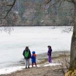 ������, ������: Kids playing near a frozen lake
