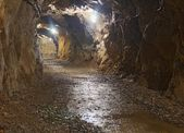 Underground Mining Tunnel — Stock Photo