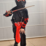 Постер, плакат: Purim Halloween Ninja Boy