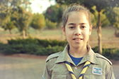 Israel Girl Scout — Stock Photo
