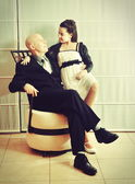 Father and Daughter: a Bat Mitzvah girl with her father — Stock fotografie