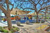 Contemporary outdoor playgroud in Kfar Saba,  Israel — Stock Photo