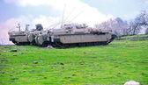 Israeli Tanks in the Golan Heights — Stock fotografie