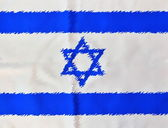 Painted Israel Flag on Independence Day — Stock Photo