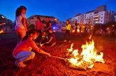 Lag BaOmer Bonfires in Israel — Stockfoto