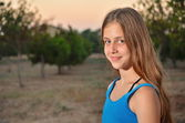Portrait of a 12 year old girl — Stock Photo