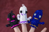 Loom band ghosts — Stock Photo