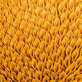 Golden fabric texture close-up for abstract background  — Stock Photo