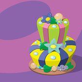 Birthday cake — Stock Vector
