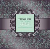 Invitation vintage card — Stock Vector