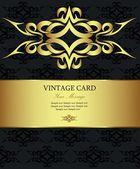 Golden vintage card — Stock Vector