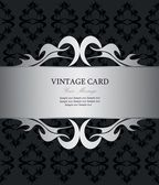 Luxury silver vintage card — Stock vektor
