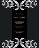 Luxury silver vintage card — Stock Vector