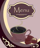 Diseño vectorial para cafetería o tienda — Vector de stock