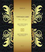 Annata d'oro di lusso in stile carta — Vettoriale Stock